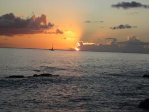 Sunset at Black Sand Cove, Nevis