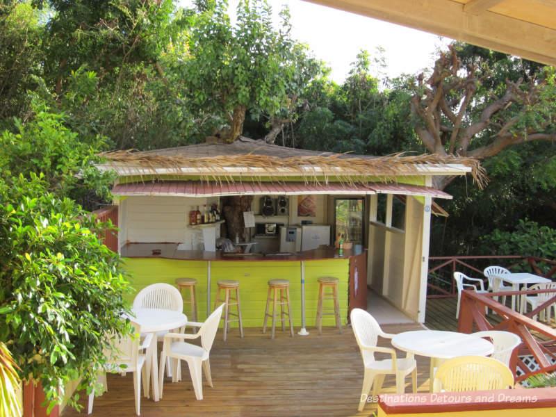 Honour bar at The Ocean Inn, English Harbour, Antigua