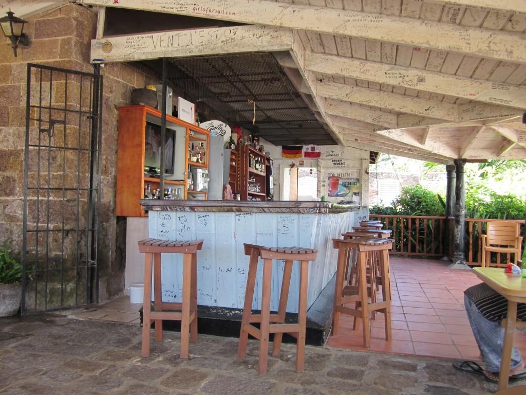 Bar at Nelson's Dockyard Marina