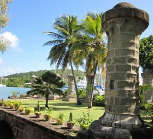 Nelson's Dockyard columns