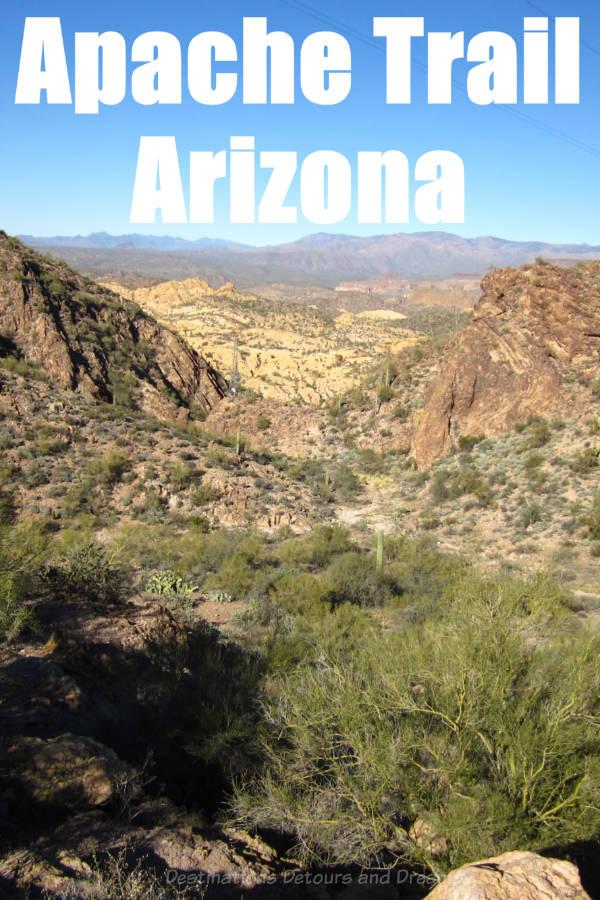 The Apache Trail is a scenic drive east of Phoenix, Arizona #Arizona #scenicdrive #mountains