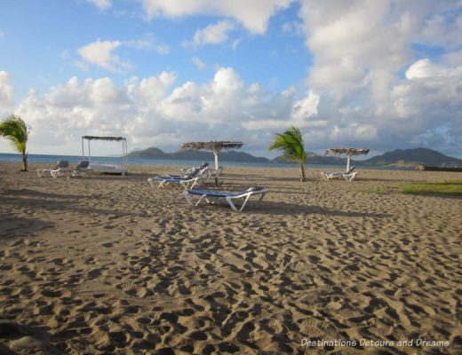 Beach on the Caribbean island of Nevis