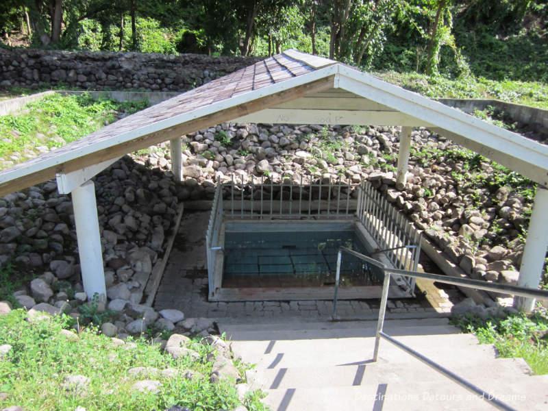 Nevis hot springs pool
