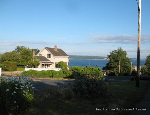 House along the water in Port Townsend, Washington, USA