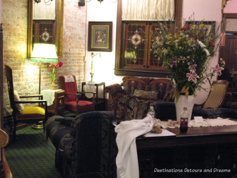 Sitting room at the Palace Hotel Port Townsend, Washington