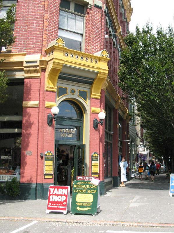 Brick building and wide sidewalk along Main Street, Port Townsend, Washington