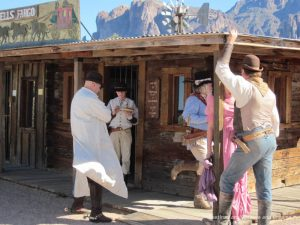 Old west characters at Superstition Mountain Museum