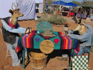 Deer and antelope playing cards at Superstition Mountain Museum