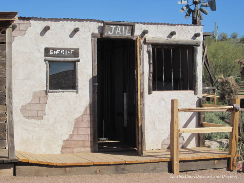 Old jail on grounds of Superstition Mountain Museum