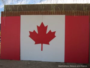 Canadian flag at The Great Canadian Picnic in Phoenix, Arizona