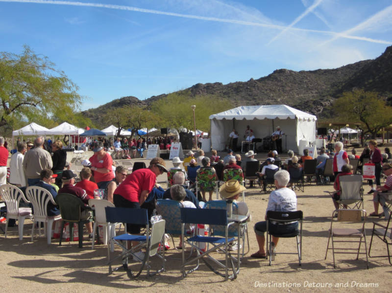 Band playing at The Great Canadian Picnic in Phoenix, Arizona