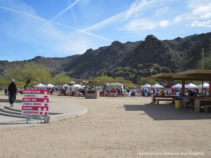 Entrance to the Great Canadian Picnic in Phoenix, Arizona