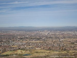 View of the greater Phoenix area from South Mountain Park, Phoenix, Arizona