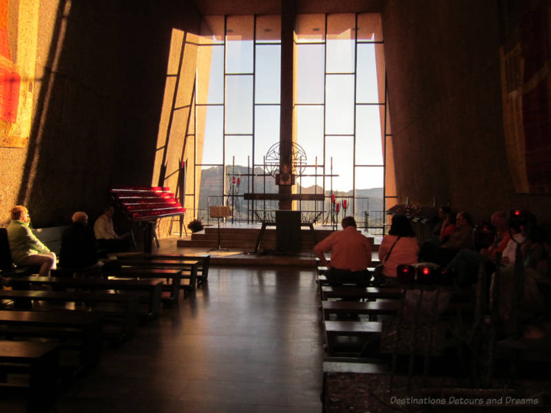 Inside Chapel of the Holy Cross, Sedona, Arizona