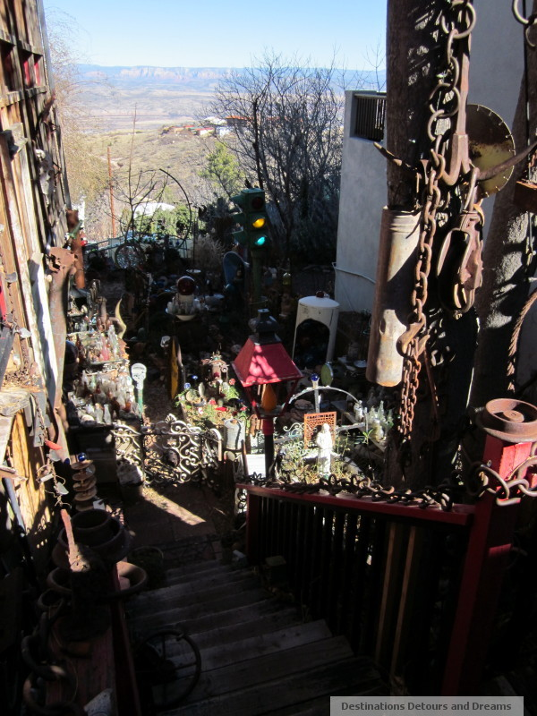 Side yard of House of Joy, Jerome, Arizona