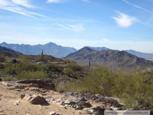 Road up South Mountain Park, Phoenix, Arizona