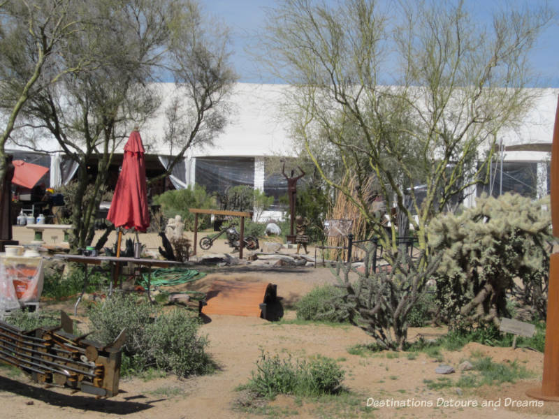 Sculpture Courtyard at Arizona Fine Art Expo