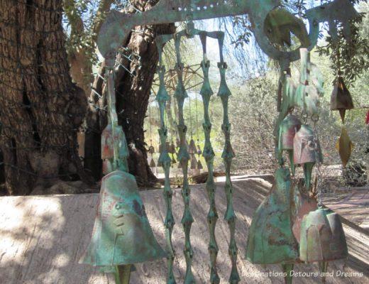 Windbell display at Cosanti, Paradise Valley, Arizona