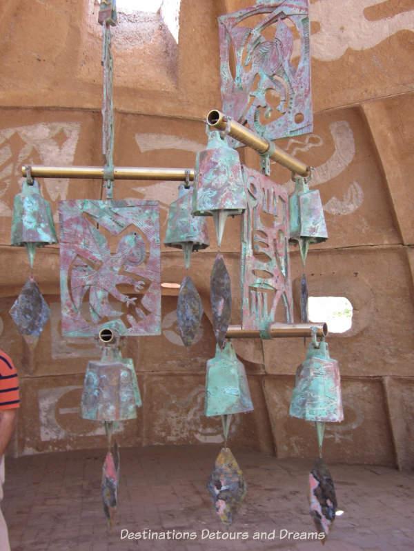 Large commissioned windbell on display at Cosanti, Paradise Valley, Arizona