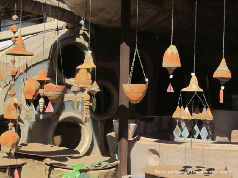 Ceramic windbells at Cosanti, Paradise Valley, Arizona