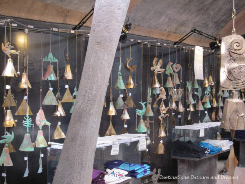 Items for sale at Cosanti shop in Paradise Valley, Arizona