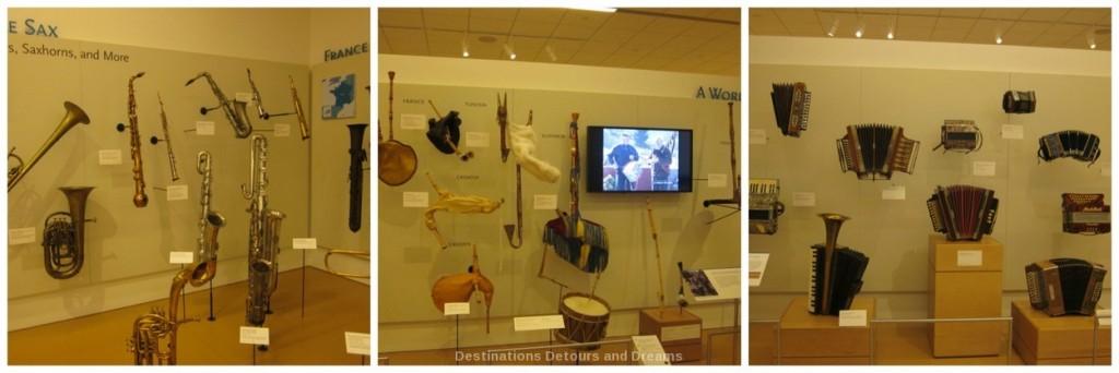 Saxophones, bowed instruments, accordions