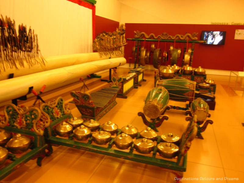 Collection of Indonesian instruments at Musical Instrument Museum