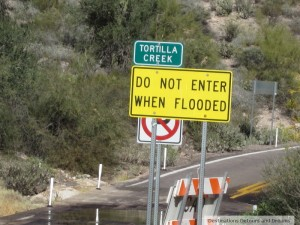 do not enter when flooded