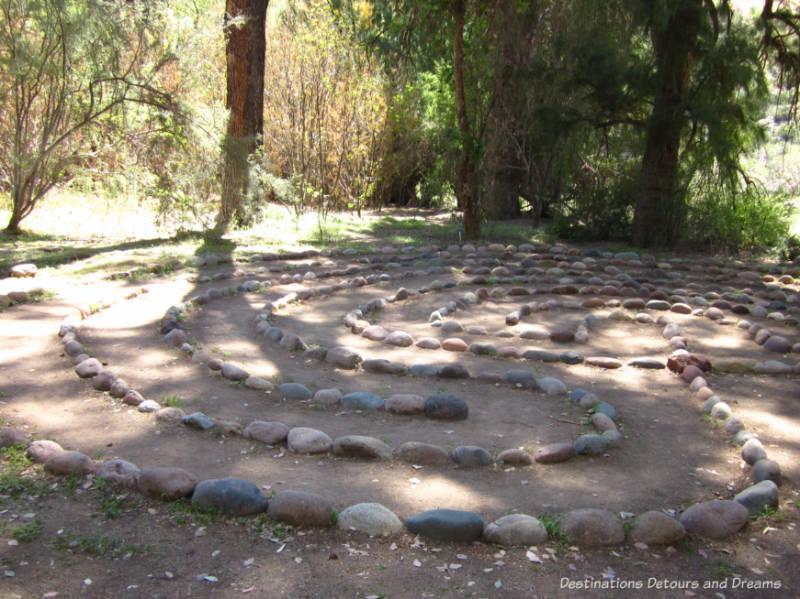 Rock labyrinth at Boyce Thompson Arboretum