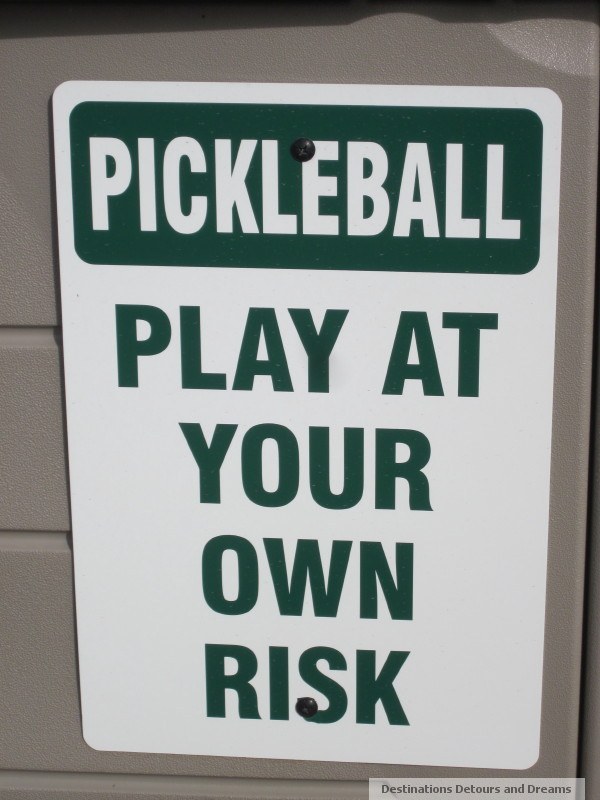 pickleball at own risk