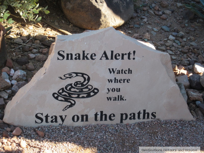 Sign at Superstition Mountain Museum: Harmless garter snakes are the only snakes I'm likely to come across in Manitoba