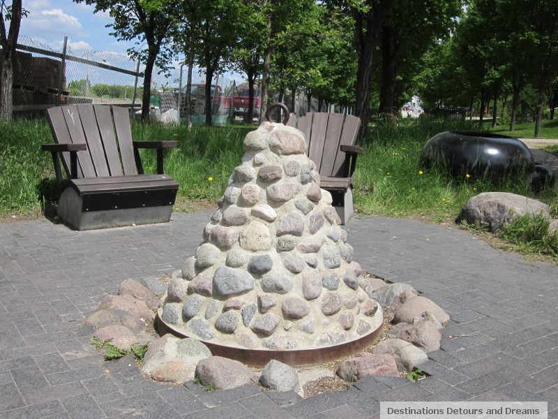 Fire Pit near Canadian Museum for Human Rights
