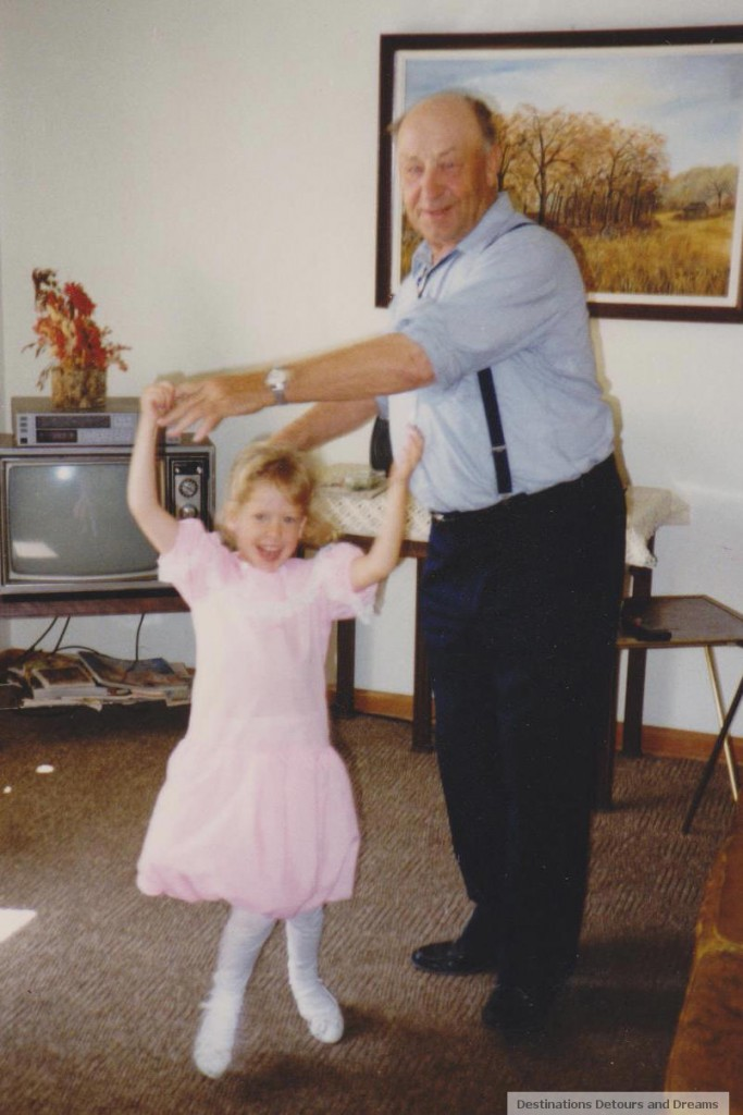 One of my favourite old photos My daughter and my father dancing in his living room