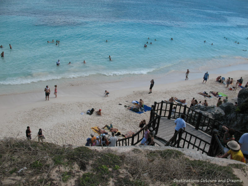 Beach at Tulum Ruins in Mexico