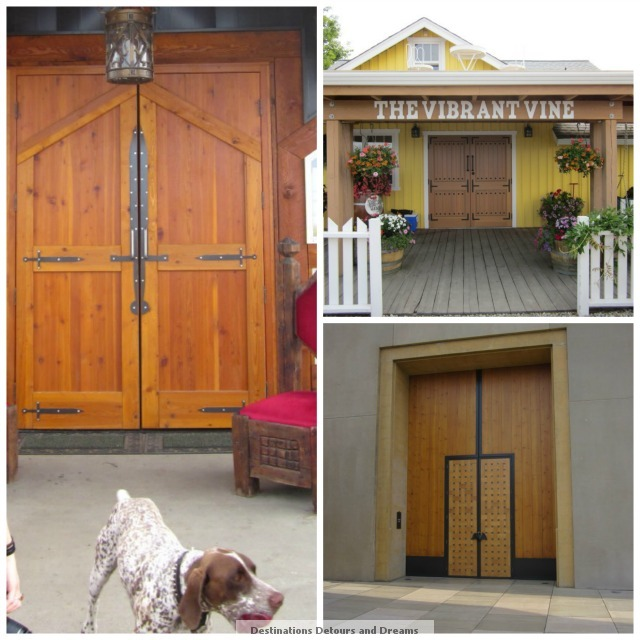 winery doors and dogs