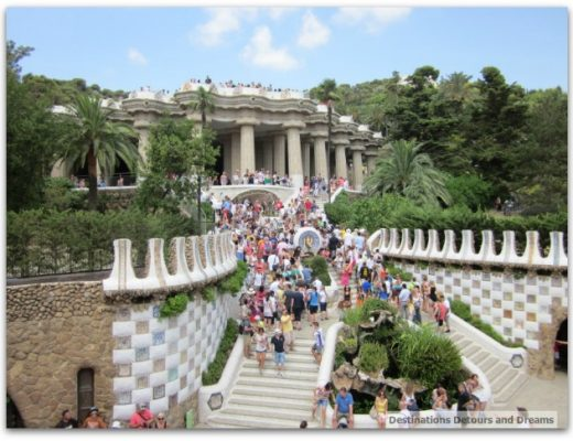 Entrance stairway at Park Güell