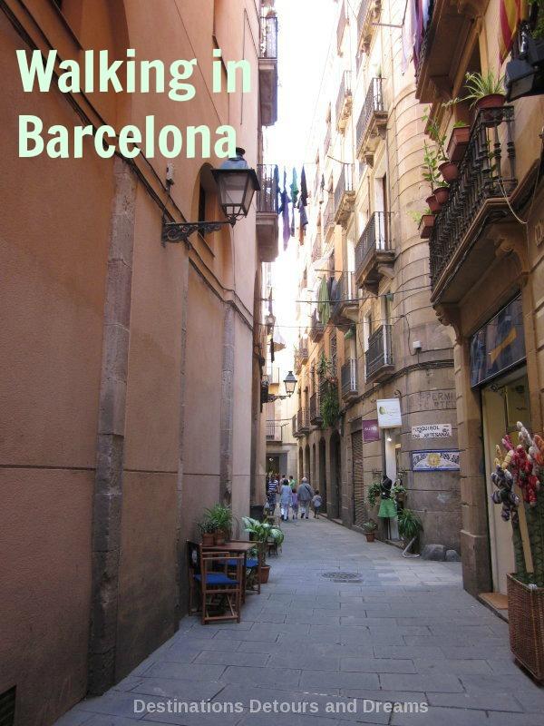 Walking is the best way to explore Barcelona, Spain