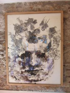 Dali's Portrait of Beethoven at Dali Theatre-Museum in Figueres, Spain