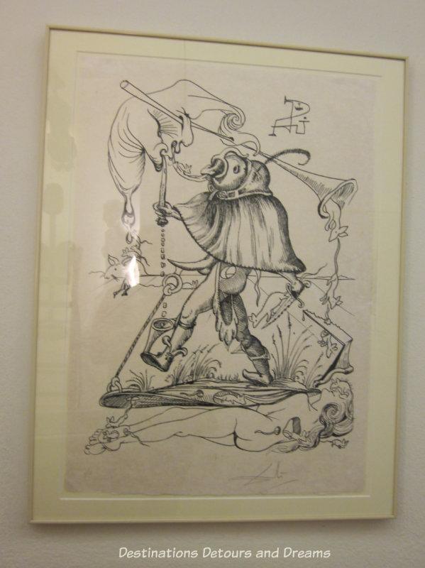 Dali drawing at Dali Theatre-Museum