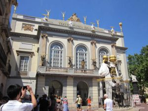 Entrance to Dali Theatre-Museum in Figueres Spain
