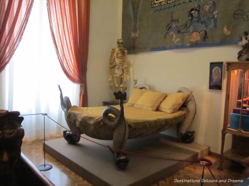 Dali designed furniture at dali Theatre-Museum in Figueres, Spain