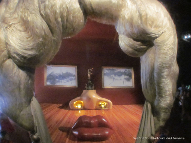 Mae West room at Dali Theatre-Museum in Figueres Spain