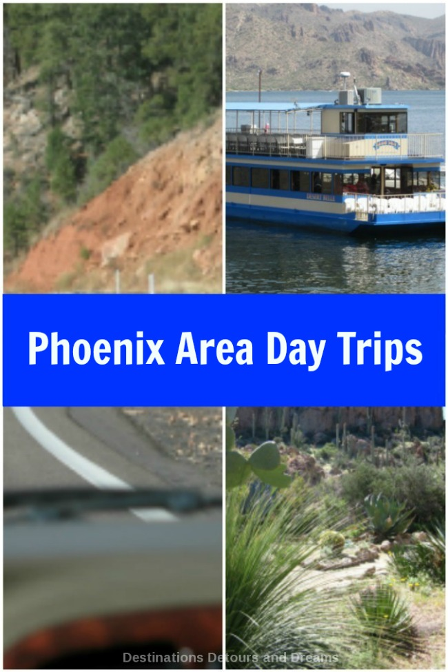 Six Phoenix area day trips: Apache Trail, Payson and Mongollon Rim, Tonto Natural Bridge, Desert Belle, Boyce Thompson Arboretum, Kartchner Caverns