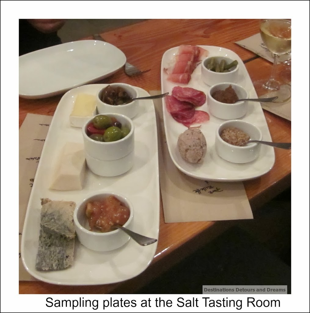 Salt Tasting Room sampling plates