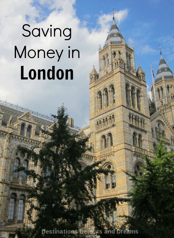 Tips for saving money when visiting London, which can be an expensive city