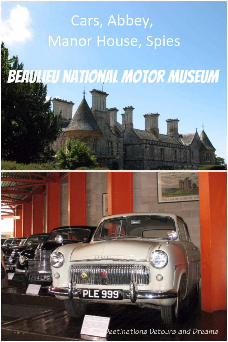 Beaulieu National Motor Museum in the New Forest, England: cars, abbey,manor house, garden and spies. #NewForest #museum #motors #England