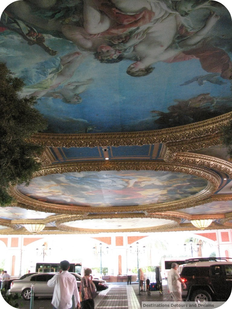 Venetian carport ceiling