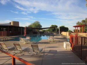 Community pool in a Mesa 55+ community