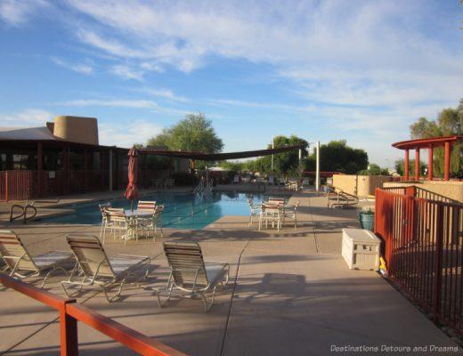 Community pool in a Mesa 55+ community