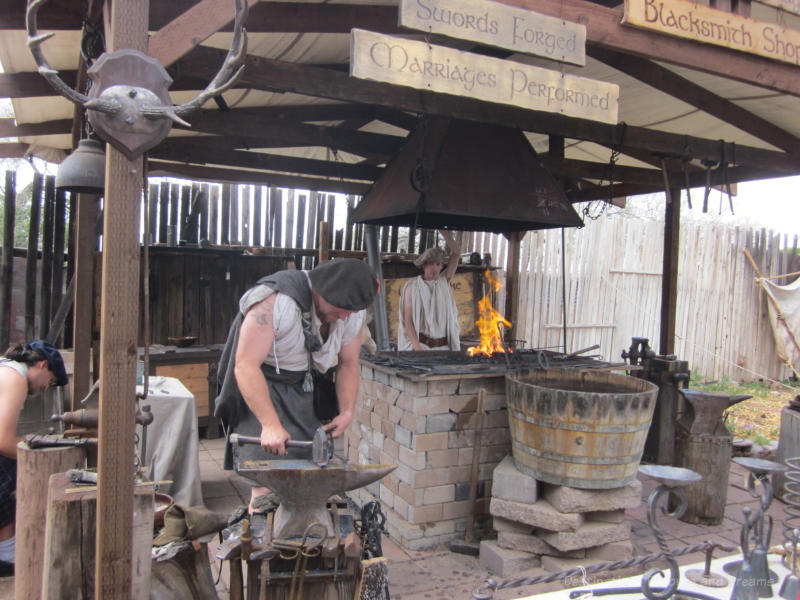 Blacksmith at Arizona Renaissance Festival